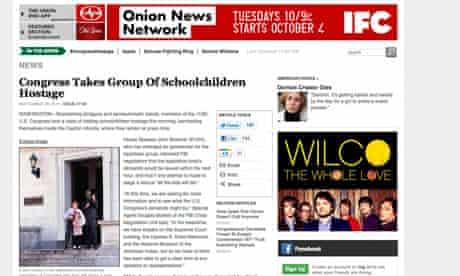 The Onion: a satire too far?