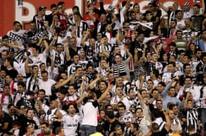 Europa League: The Besiktas fans cheer during the match against Stoke City