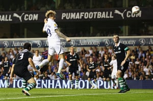 Europa League: Spurs' Roman Pavlyuchenko equalises against Shamrock Rovers