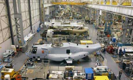 Osprey assembly line at Boeing