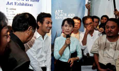 Aung San Suu Kyi at Sketch of a River