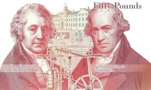 New £50 note celebrating Matthew Boulton and James Watt