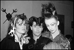 We could be heroes: Claire Thom, Philip Sallon and Boy George, 1980