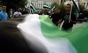 Syrian protest in Greece