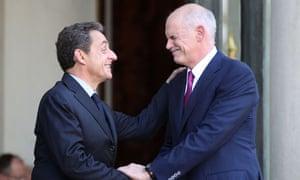 Nicolas Sarkozy and George Papandreou