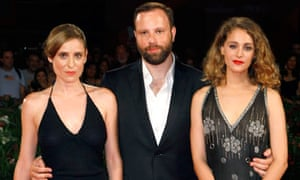 Yorgos Lanthimos and cast members of Alps