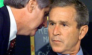 Andrew Card and George Bush