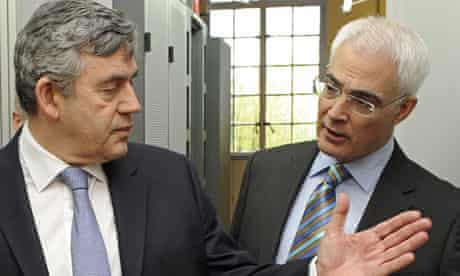 Former prime minister and his chancellor Alistair Darling.