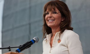 Sarah Palin speaking at the Tea Party rally in Iowa
