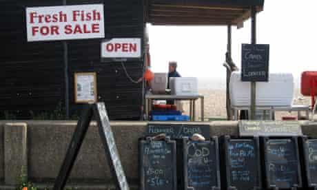 Fresh fish for sale in Aldeburgh