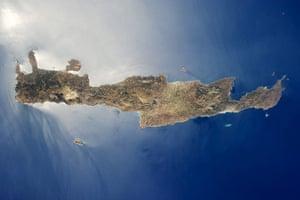 Satellite Eye on Earth:  island of Crete