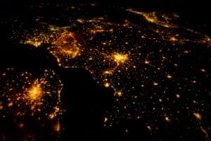 Satellite Eye on Earth: cities of northwestern Europe at night