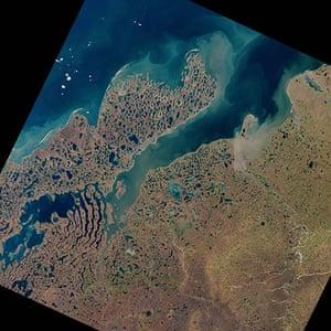 Satellite Eye on Earth: Liverpool Bay in Canada's Northwest Territories