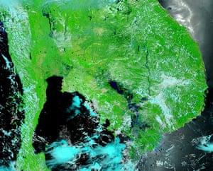 Satellite Eye on Earth: flooding in Cambodia