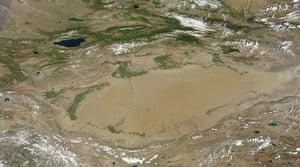 Satellite Eye on Earth:  Taklimakan Desert in China.