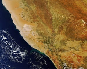 Satellite Eye on Earth: Southern Namibia and northern South Africa