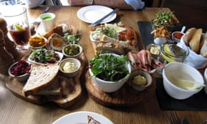 Tasting platters at the British Larder