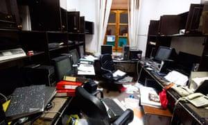 Moussa Koussa's abandoned office