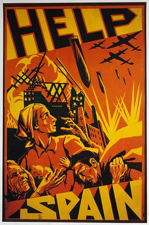 Working Class library: Help Spain poster from the Spanish civil war, 1936-1939