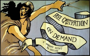 Working Class library: Free Castration On Demand poster from the 1970s