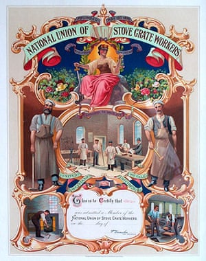 Working Class library: National Union of Stove Grate Workers certificate