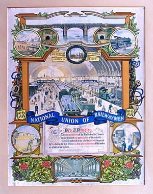 Working Class library: Emblem from the National Union of Railwaymen