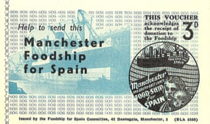 Working Class library: Voucher for the Manchester Foodship for Spai