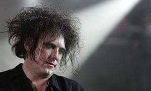 Robert Smith, singer of British band The Cure