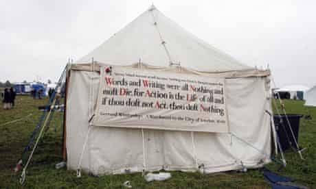 A quote by Gerrard Winstanley at a 'climate camp' at Heathrow in 2007
