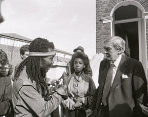 Archives Awareness: Lord Leslie Scarman meeting residents in Brixton in October 1986