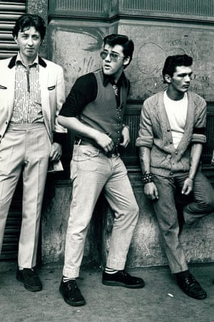Archives Awareness: Teddy Boys at an Elvis Presley tribute in Petticoat Lane August 1977
