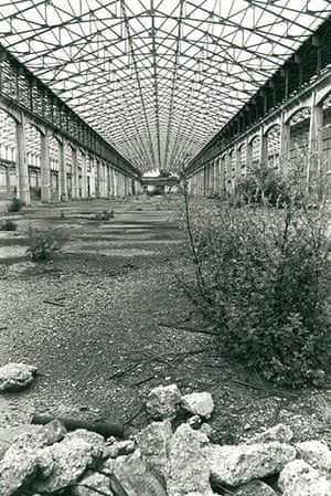 Archives Awareness: Palace of Engineering at Wembley being reclaimed by nature in July 1978