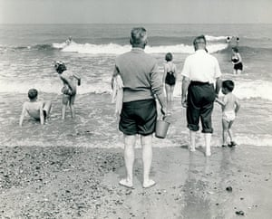 Archives Awareness: The young and young at heart enjoying a trip to the seaside at Swansea, nd