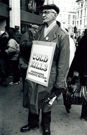 Archives Awareness: Pensioner protest 1997 Government refused to alter cold weather payments