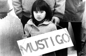 Archives Awareness: Protesters at Filipino demonstration outside the Home Office in March 1982