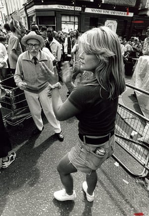 Archives Awareness: A couple dancing at the Notting Hill Carnival in August 1994.