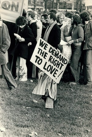 Archives Awareness: Demonstrators campaigning for homosexual rights in November 1975.