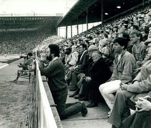 Archives Awareness: Coventry football supporter who is on his knees during semi cup final match