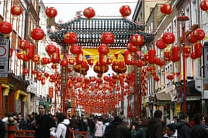 Archives Awareness: Lanterns hanging in Chinatown, London, for Chinese New Year 2008