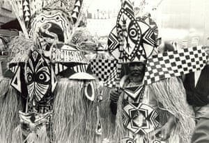Archives Awareness: Costumes ready for the Notting Hill Carnival parade in August 1985