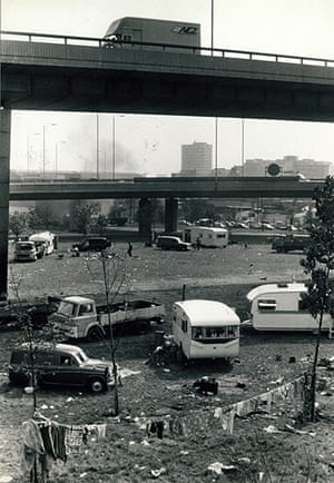 Archives Awareness: Gypsy camp against the urban backdrop at Shepherd's Bush, 1973
