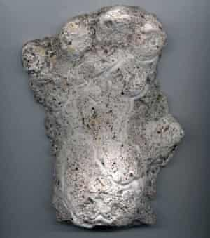 Cast of an alleged orang-pendek footprint