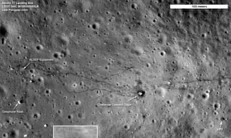 Lunar image shows Apollo 17 landing site
