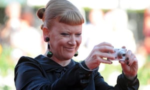 Andrea Arnold arrives for the screening of Wuthering Heights at the 2011 Venice film festival
