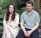 Olivia Colman and David Mitchell in Peep Show