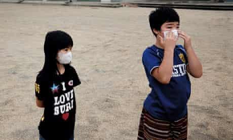 Fukushima nuclear accident: Fu Nishikata, 8, and her brother Kaito, 12