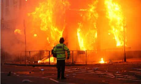 Aftermath of riots in Croydon