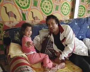 Gaddafi family photos: Muammar Gaddafi relaxes with his family at the Bab al-Aziziya compound
