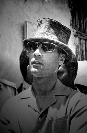 Gaddafi family photos: An undated private photograph of Colonel Gaddafi