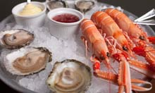 Oysters and langoustines at Wright Brothers, Soho